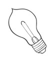 sketch of glowing light bulb vector image