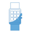 smart watch wearable technology digital display vector image vector image