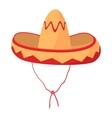 Sombrero icon cartoon style vector image vector image