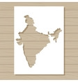 stencil template of India map on wooden background vector image vector image