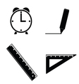 straightedge and clock vector image