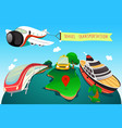 travel transportation vector image vector image