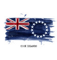 watercolor painting flag of cook islands vector image vector image