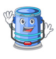 waving cylinder bucket isometric of for mascot vector image vector image