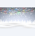 winter is coming christmas snowy night woodland vector image vector image