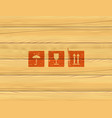 wooden box panels simple icons set vector image
