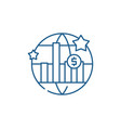world economic growth line icon concept world vector image vector image