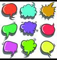 text balloon colorful vector image