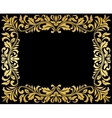 Vintage gold frame with floral elements vector image