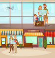 banners with traveling people vector image