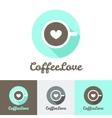 modern flat coffee shop or cafe logo vector image