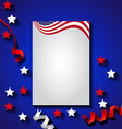American flag background for Independence Day USA vector image