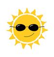 Happy sun fun icon vector image