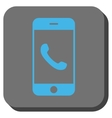 Cell Phone Rounded Square Button vector image