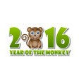 2016 year monkey chinese new year animal vector image vector image