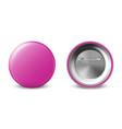 3d realistic pink metal plastic blank vector image vector image
