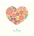 Abstract decorative circles heart silhouette
