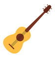 acoustic guitar on white background vector image vector image
