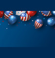 america holiday banner design vector image