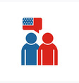 America People USA logo Couple icon vector image vector image