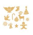 angel deer lollipop gingerbread man bell dove new vector image vector image