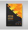 annual report cover template with triangular vector image