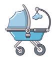 baby carriage cute icon cartoon style vector image vector image