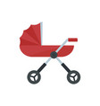 baby pram carriage icon flat style vector image vector image