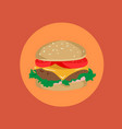 burger menu of a burger vector image vector image