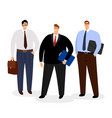 businessmen icon set isolated on white vector image vector image