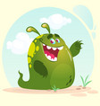 cartoon happy monster alien vector image vector image