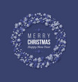 christmas holiday wreath with paper cut style vector image vector image