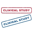 Clinical Study Rubber Stamps vector image