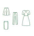 collection of pixel art icons of clothes vector image vector image