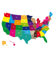 Color USA map vector image vector image