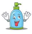 crazy liquid soap character cartoon vector image vector image