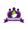 deals club logo design template vector image vector image