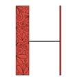 Decorative letter shape H vector image vector image