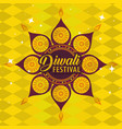 Diwali flower and hindu mandalas background