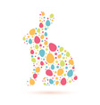 easter bunny silhouette card vector image vector image
