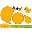 education paper game for children duck vector image vector image