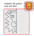educational game for kids simple exercise lion vector image vector image