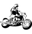 extreme abstract motocross racer by motorcycle vector image vector image