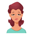 face expression of a woman - tired female vector image vector image