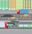 flat design city traffic transportation vector image