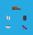 flat icon dress set of stylish apparel male vector image vector image