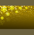 gold snowflakes background vector image