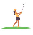 golf woman vector image vector image