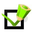 green pen marking on the check box vector image