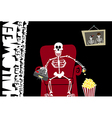 Halloween funny background Greeting card vector image vector image